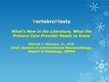 VertebroPlasty - Healthcare Professionals