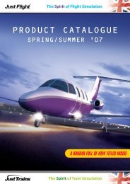 PRODUCT CATALOGUE - Just Flight - Just Flight and Just Trains