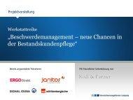 Veranstaltungskonzept - Versicherungsforen Leipzig