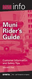 Muni Rider's Guide (PDF) - San Francisco Municipal Transportation ...