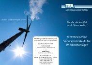 ServicetechnikerIn für Windkraftanlagen - TFA Bildungswerk