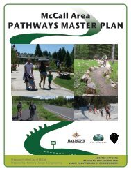 McCall Area PAthwAys MAster PlAn - The City of McCall