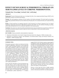 effect of non surgical periodontal therapy on serum lipid ... - Aosr.co.in