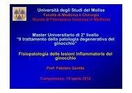 Artrite Reumatoide - Università degli Studi del Molise