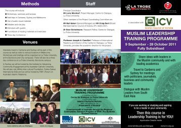 muslim leadership training programme - Crescents of Brisbane