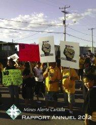 Rapport Annuel 2012 - MiningWatch Canada