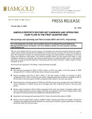 Download this News Release (PDF 85 KB) - Iamgold
