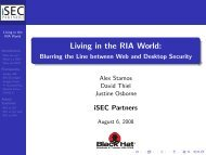 Living in the RIA World: - Blurring the Line between ... - iSEC Partners