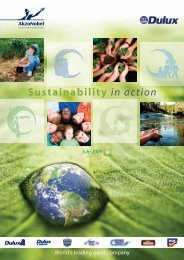 Sustainability in action - Dulux Trade