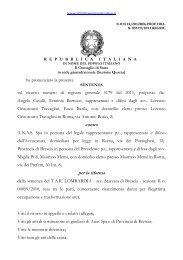 contro per la riforma - Il diritto amministrativo