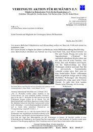 Rundbrief April 2011 - Vereingte Aktion für Rumänien