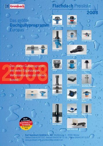 Preise Flachdach 2005 - Grumbach