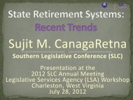 State Retirement Systems: Recent Trends - Southern Legislative ...