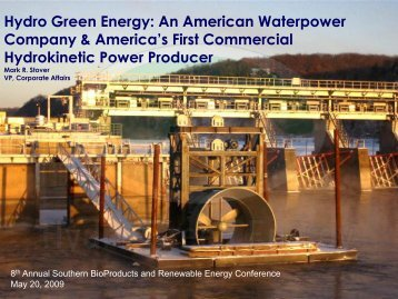 Hydrokinetic - Mississippi Biomass and Renewable Energy Council