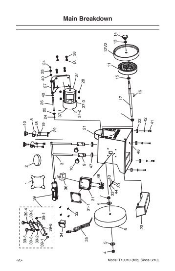 Parts List For 17 Inch Band Saw Model No SBW-4300 A