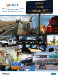 Hampton Roads - Virginia Department of Transportation