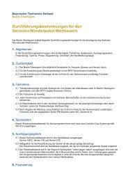 10 DFB Senioren-Wanderpokal-Wettbewerb - Bezirk Oberbayern
