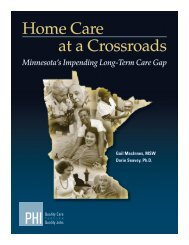 Home Care at a Crossroads: Minnesota's Impending Long - PHI