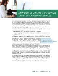 le ministère de la santé et des services sociaux et son réseau de ...
