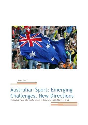 Australian Sport: Emerging Challenges, New ... - SportingPulse