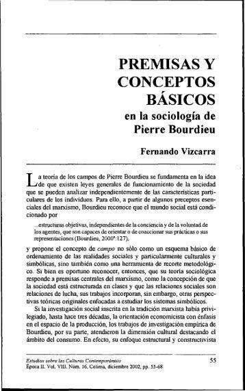PREMISAS Y CONCEPTOS BASICOS - Estudios sobre las Culturas ...