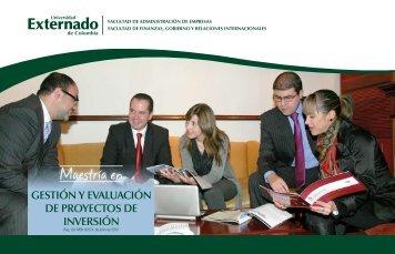 Maestría en - Universidad Externado de Colombia