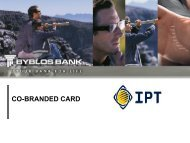 IPT-Byblos Bank Co-Branded Card Presentation