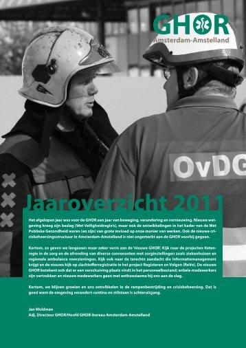 Jaaroverzicht 2011 - Veiligheidsregio Zaanstreek-Waterland