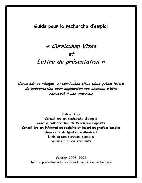 Cv Et Lettre De Motivation Canalblog
