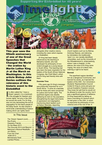 Limelight Newsletter Issue 119 - LLangollen 2014 / Llangollen ...