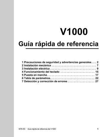 guia rapida variador v1000
