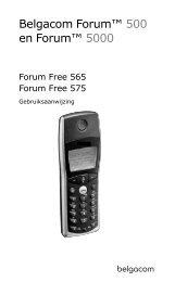 Forum Free 565, Forum Free 575 - Help and support - Belgacom