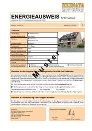 ENERGIEAUSWEIS für Wohngebäude - BRUNATA Hürth