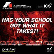 HAS YOUR SCHOOL GOT WHAT IT TAKES?! - F1 in Schools