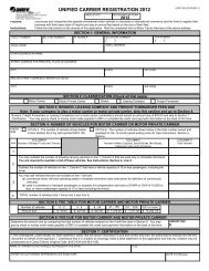 Unified Carrier Registration for 2012 - Virginia Department of Motor ...
