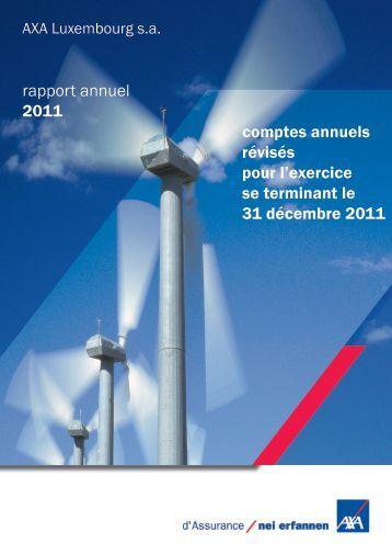 rapport annuel 2011 comptes annuels révisés pour l ... - paperJam