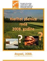 Studija žetva 2008. KRAJ - FINS - Univerzitet u Novom Sadu