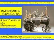 Investigación Tecnológica, Dr. Ing. Roberto C. Callarotti - Academia ...