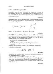 1. Test aus Elektrodynamik I
