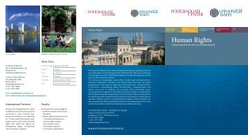 Human Rights - Postgraduate Center