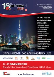 China's Global Food and Hospitality Expo - Allworld Exhibitions