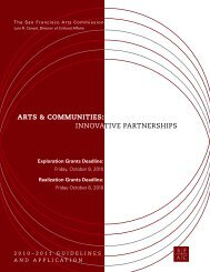 arts & communities - San Francisco Arts Commission