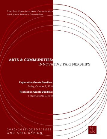 arts & communities - San Francisco Arts Commission
