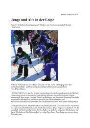 Junge und Alte in der Loipe - Skiclub Hinterzarten