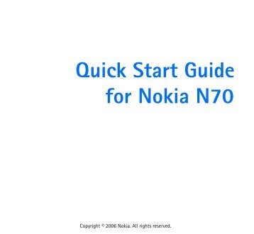 Quick Start Guide for Nokia N 07