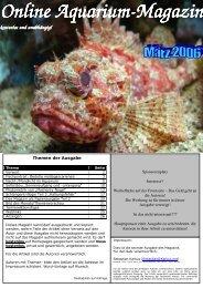 Online Aquarium-Magazin Magazin kostenlos und unabhängig!