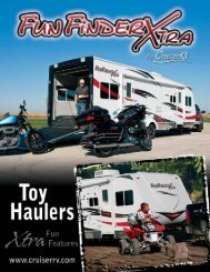 Fun Finder Xtra Toy Hauler Travel Trailer Brochure - RVWholesalers ...