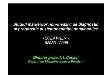 Studiul markerilor non-invazivi de diagnostic si prognostic ai ...