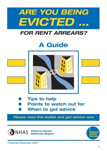 Are you being evicted for rent arrears - Festival Housing