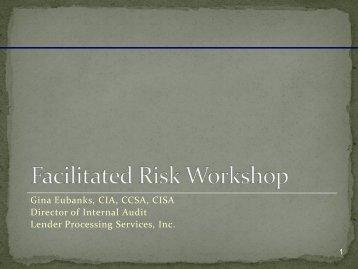Risk Assessment Workshop Presentation - The Institute of Internal ...